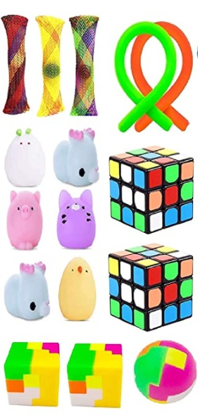 fidget toys and puzzles